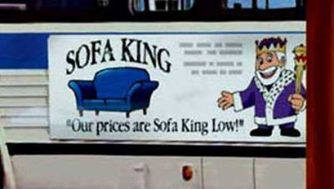 sofa king low. Brilliant Sofa Said King Of Sofas Used To Roll With The Advertising Tagline U201cWhere  Prices Are Sofa King Lowu201d On Low