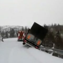 Semi And Tow Truck Fall Off Cliff [Video]