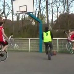 Unicycle Basketball: Great Idea [Video]