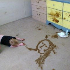 MonaLisa In Kid Poop [Photo]