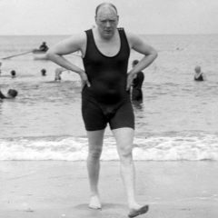 Winston Churchill In A Swimsuit [Photo]