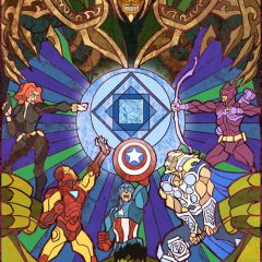 The Avengers Stain Glass Artwork [Photo]