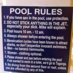 Funny Pool Rules [Photo]