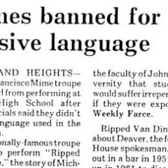 Mimes Banned [Photo]