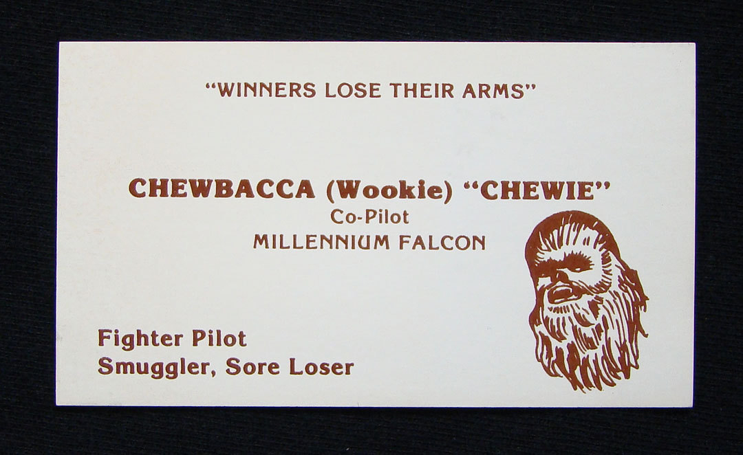 Star wars business cards photos if reheart Images