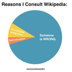 The Real Reason To Go To Wikipedia [Graph]