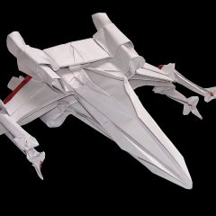 Make Your Own X-Wing By Folding Paper. [Photo]