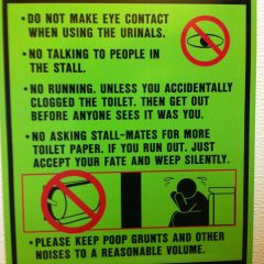 Weird Bathroom Rules [Photo]