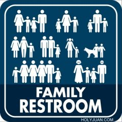 The Progressive Family Restroom Sign [Photo]