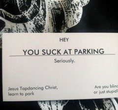 Bad Parking Gift Cards [Photo]