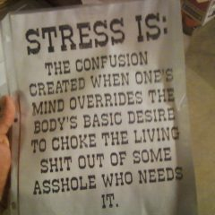 What Stress To Some People [Photo]