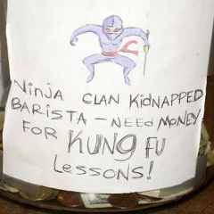 A Funny Tip Jar. [Photo]