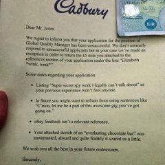How Not to Apply For a Job. [Photo]
