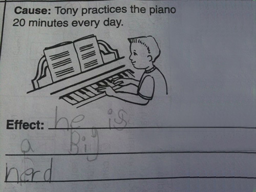 wrong test answers