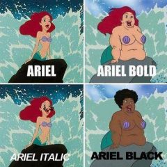 The Little Mermaid as a Font