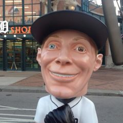 This is a Creepy Life-Size Bobblehead of Max Scherzer