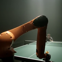 Timo Boll vs. a Robot in Table Tennis
