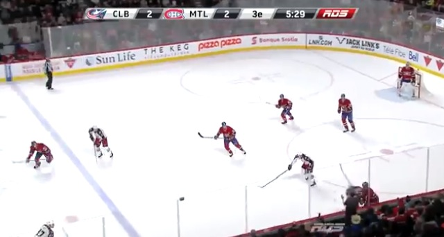 hockey chick goes flying