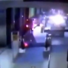 Footage: Commuter Train Plows Through O'Hare International Airport