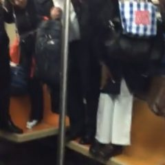 People Are Terrified by a Rat on the Subway