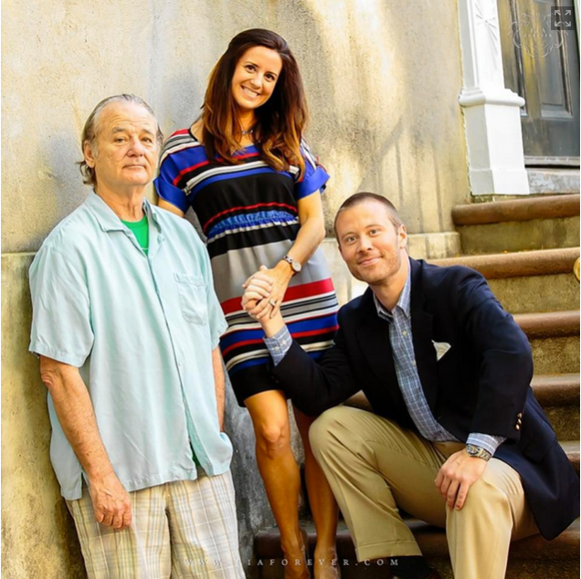 Bill Murray in an engagement photo