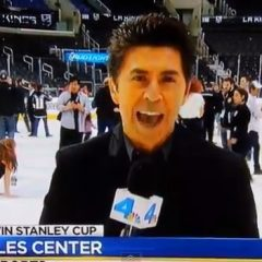 Woman Faceplants on Ice After Los Angeles Kings Win