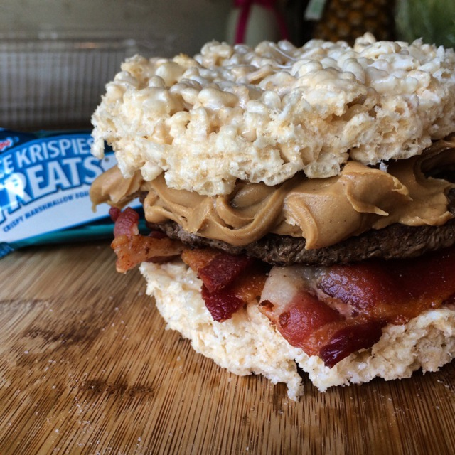 Rice Krispies Treats hamburger