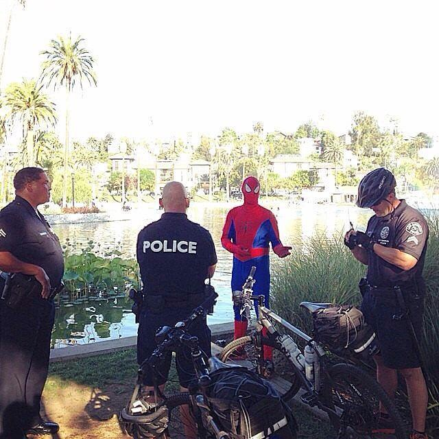 Spiderman in trouble