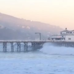 Laird Hamilton Shoots the Pier in Malibu
