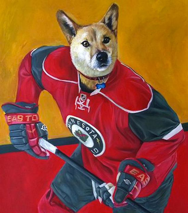 Minnesota Wild dog