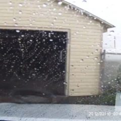 Tornado Levels Garage Moments After Guy Pulls Out