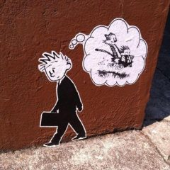 Banksy Does Calvin and Hobbes