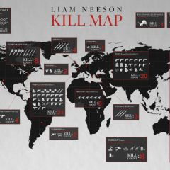 Liam Neeson Kill Map