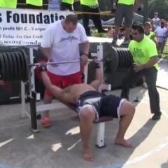 Face-Painted Man Attempts Bench Press Record, Fails