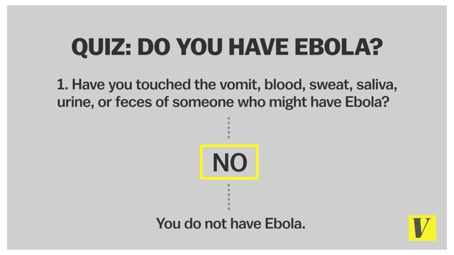 Do you have ebola?